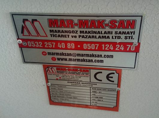 Marmaksan Zımpara makinesi