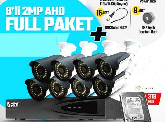 Gold net 8 kameralı  full paket kamera seti