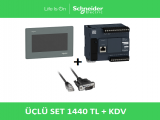 "Üçlü Set Schneider PLC+7""Ekran+Haberleşme Kablosu"